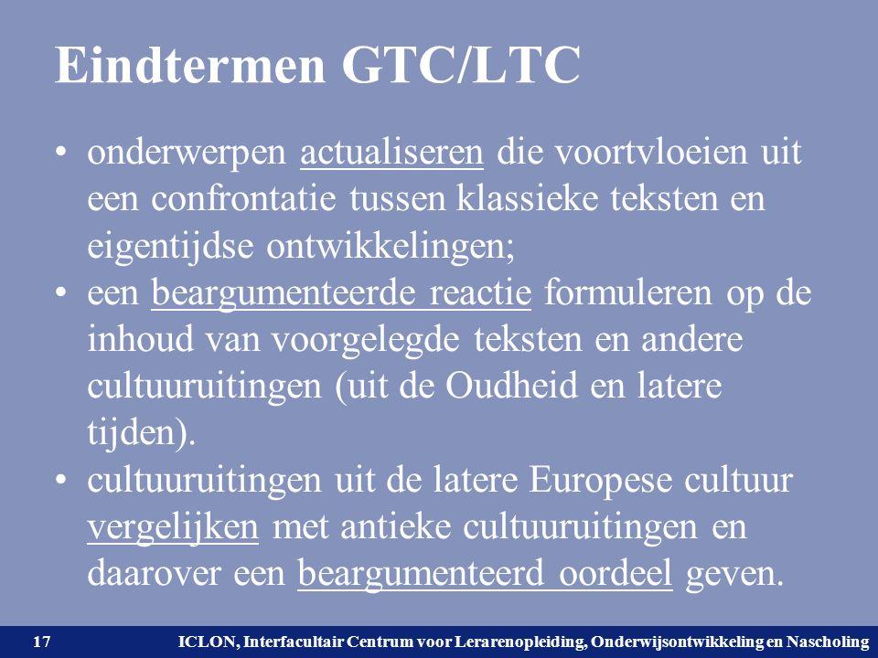 Universiteit Leiden. Bij ons leer je de wereld kennen. ICLON, Interfacultair Centrum voor Lerarenopleiding, Onderwijsontwikkeling en Nascholing Eindte