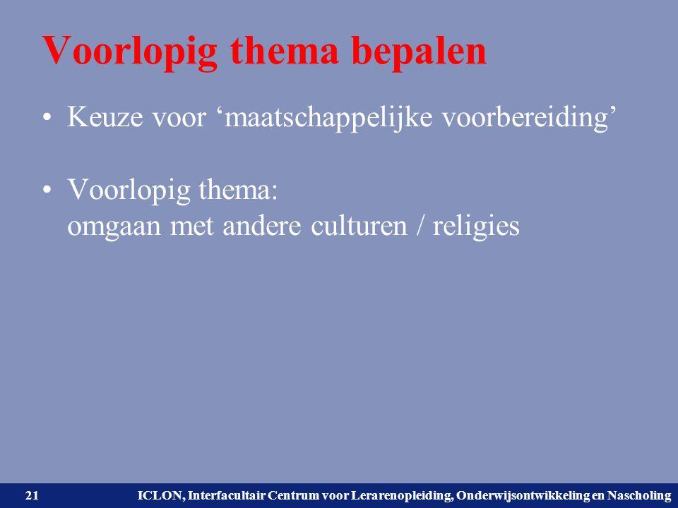 Universiteit Leiden. Bij ons leer je de wereld kennen. ICLON, Interfacultair Centrum voor Lerarenopleiding, Onderwijsontwikkeling en Nascholing Voorlo