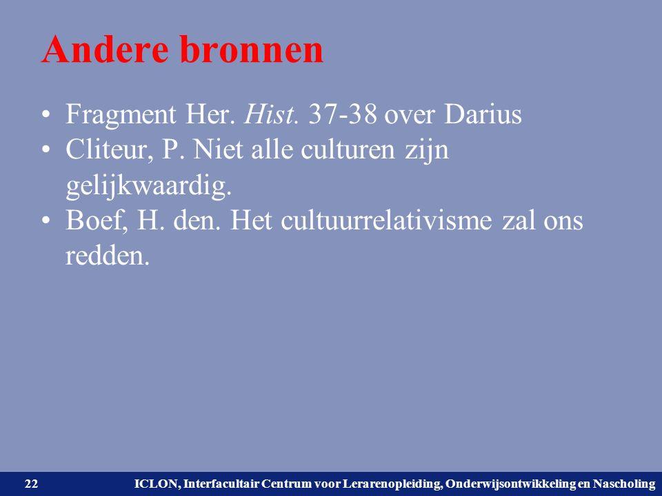 Universiteit Leiden. Bij ons leer je de wereld kennen. ICLON, Interfacultair Centrum voor Lerarenopleiding, Onderwijsontwikkeling en Nascholing Andere