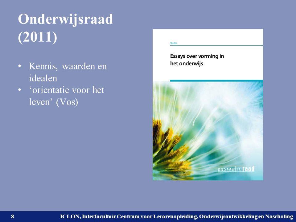 Universiteit Leiden. Bij ons leer je de wereld kennen. ICLON, Interfacultair Centrum voor Lerarenopleiding, Onderwijsontwikkeling en Nascholing Onderw