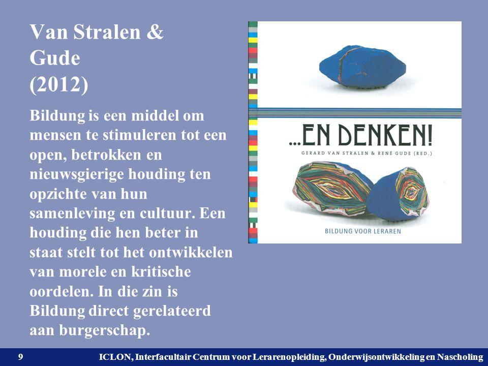 Universiteit Leiden. Bij ons leer je de wereld kennen. ICLON, Interfacultair Centrum voor Lerarenopleiding, Onderwijsontwikkeling en Nascholing Van St
