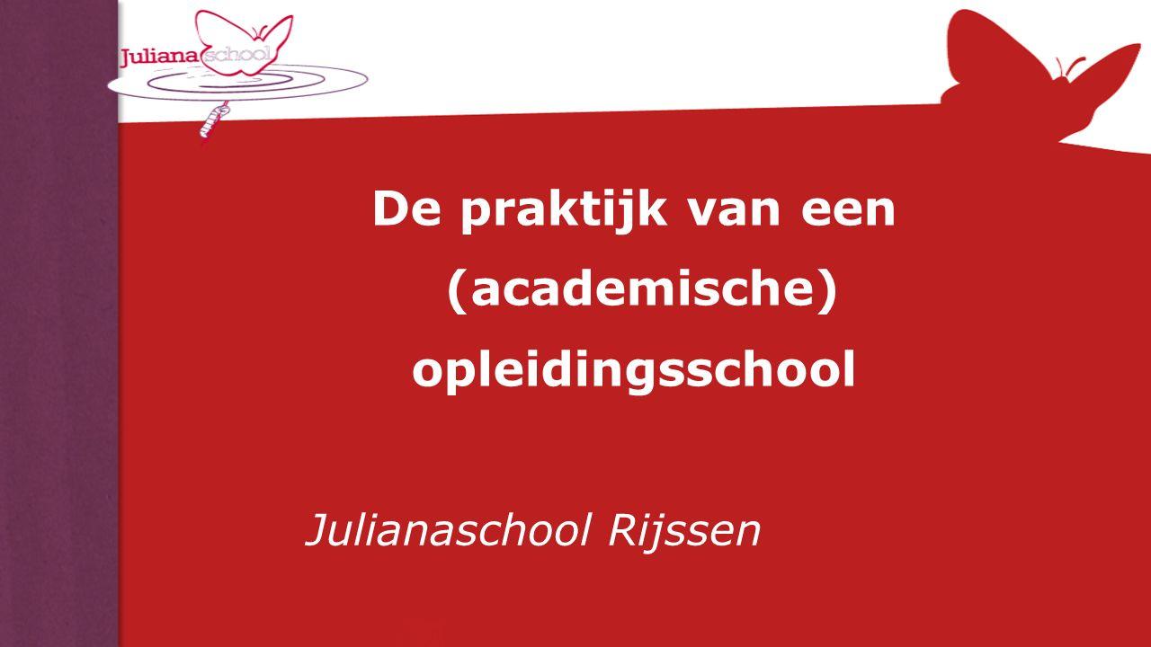 De praktijk van een (academische) opleidingsschool Julianaschool Rijssen