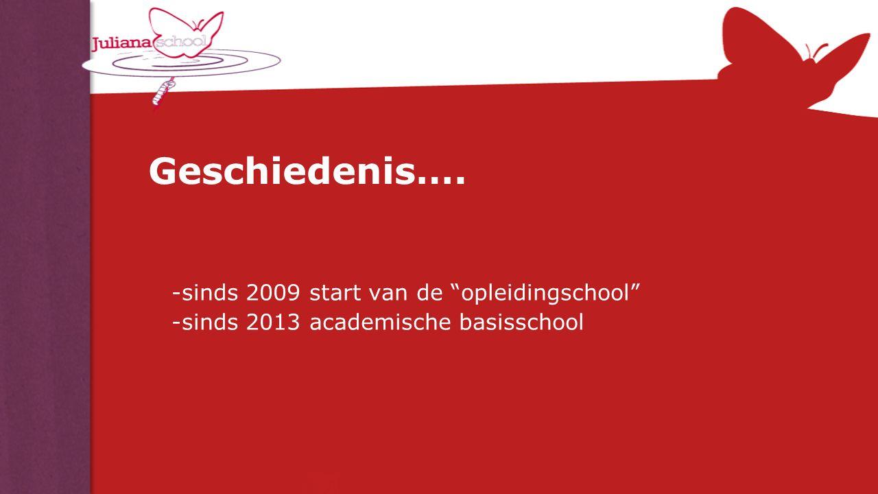 """Geschiedenis…. -sinds 2009 start van de """"opleidingschool"""" -sinds 2013 academische basisschool"""