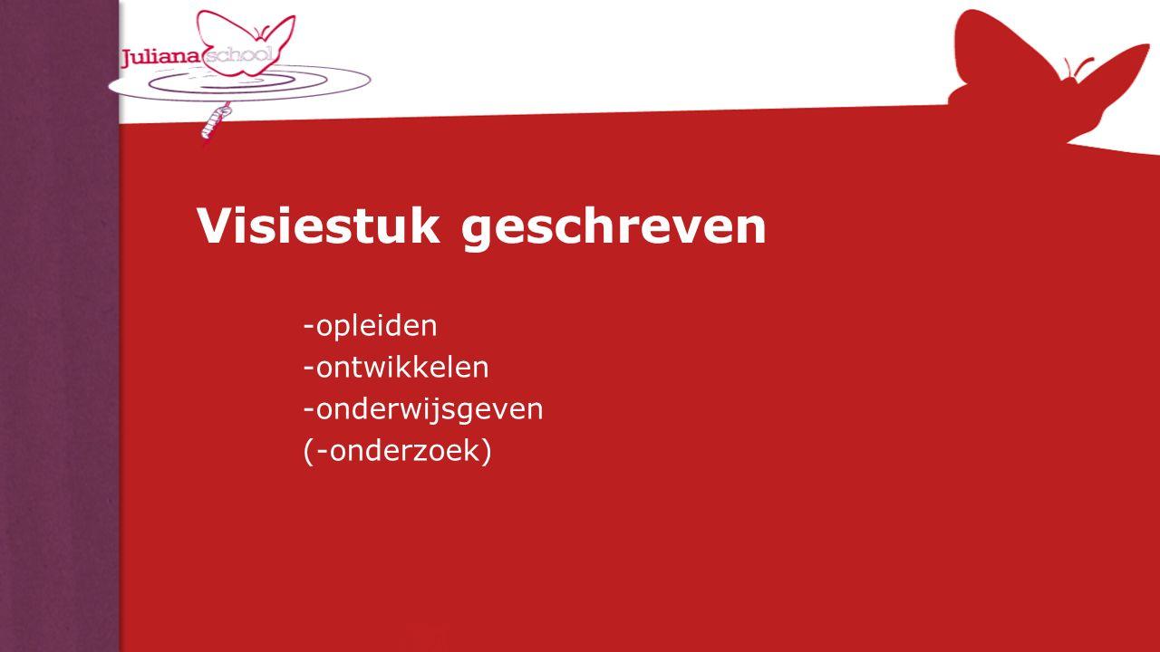 Visiestuk geschreven -opleiden -ontwikkelen -onderwijsgeven (-onderzoek)