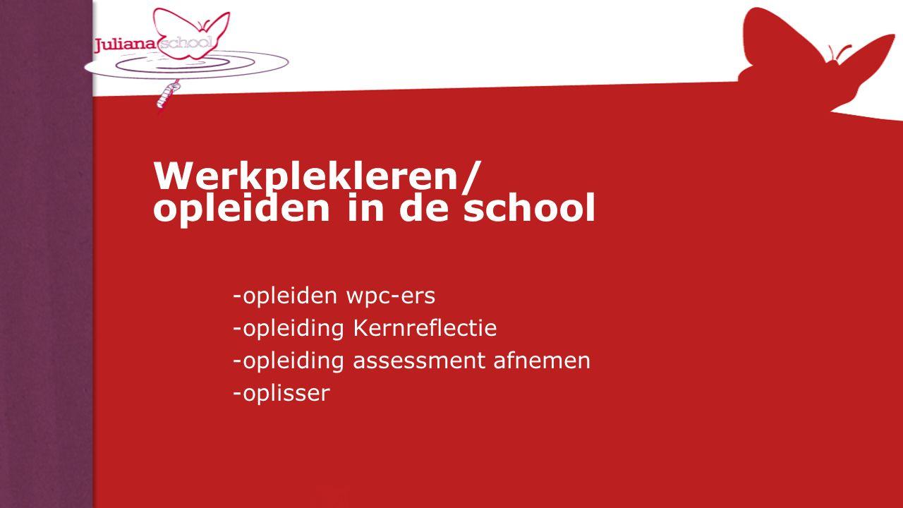 Werkplekleren/ opleiden in de school -opleiden wpc-ers -opleiding Kernreflectie -opleiding assessment afnemen -oplisser