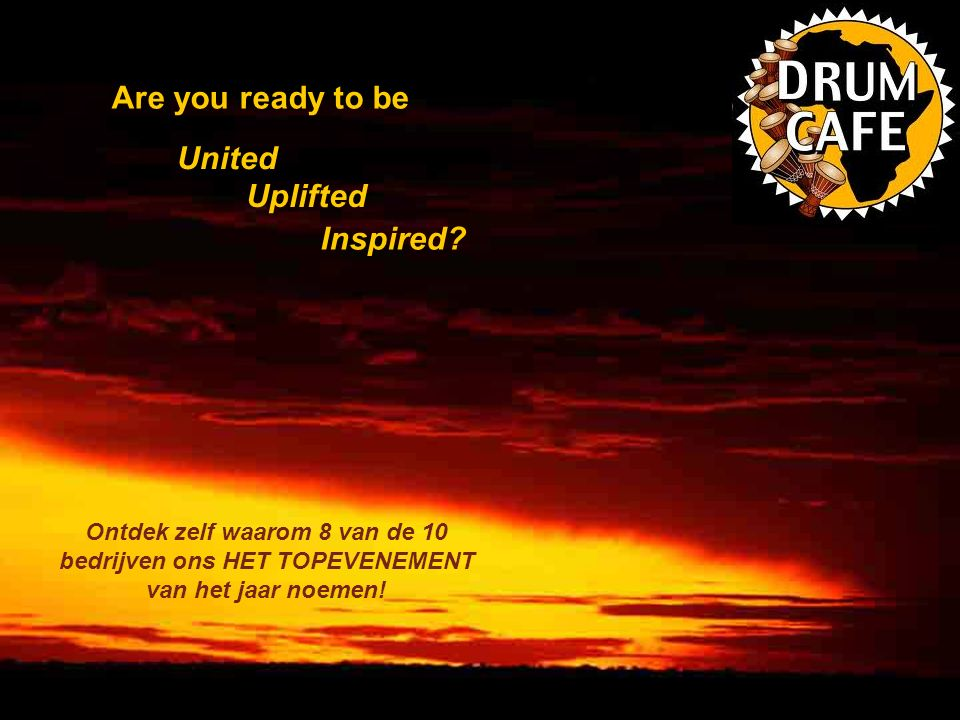 Are you ready to be United Uplifted Inspired.