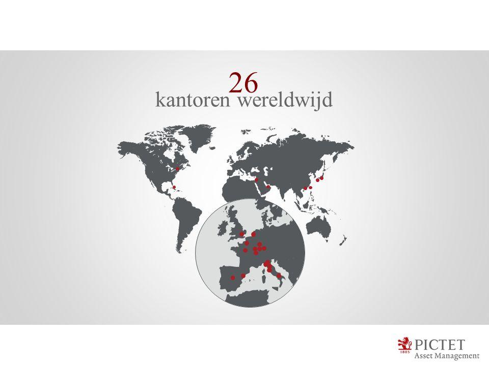 26 kantoren wereldwijd