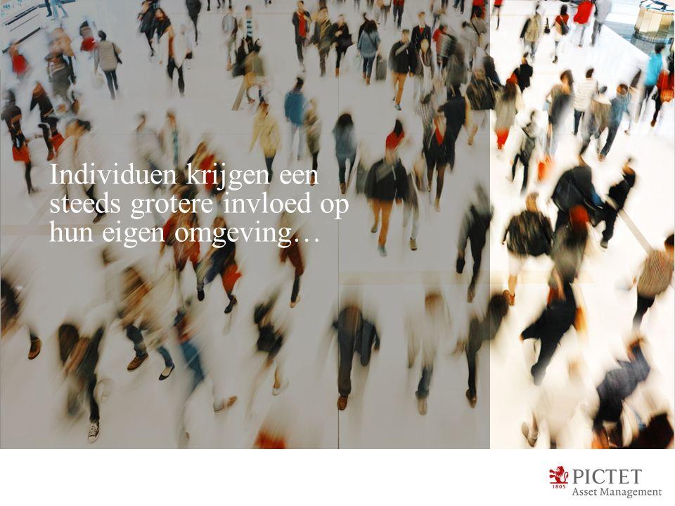 Individuen krijgen een steeds grotere invloed op hun eigen omgeving…