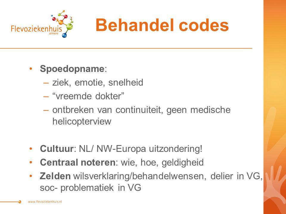 Spoedopname: –ziek, emotie, snelheid – vreemde dokter –ontbreken van continuiteit, geen medische helicopterview Cultuur: NL/ NW-Europa uitzondering.
