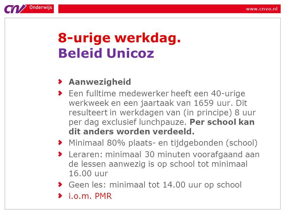 www.cnvo.nl 8-urige werkdag.