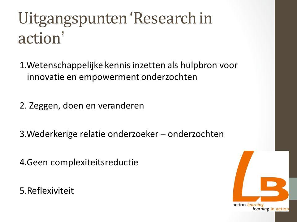 Onderzoek naar versterking wederkerig leiderschap (5) Evaluatie al van eerste thema, leidt tot nieuwe probleemdefinitie, aanscherping diagnose