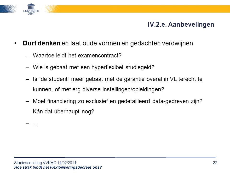Studienamiddag VVKHO 14/02/201422 Hoe strak bindt het Flexibiliseringsdecreet ons.
