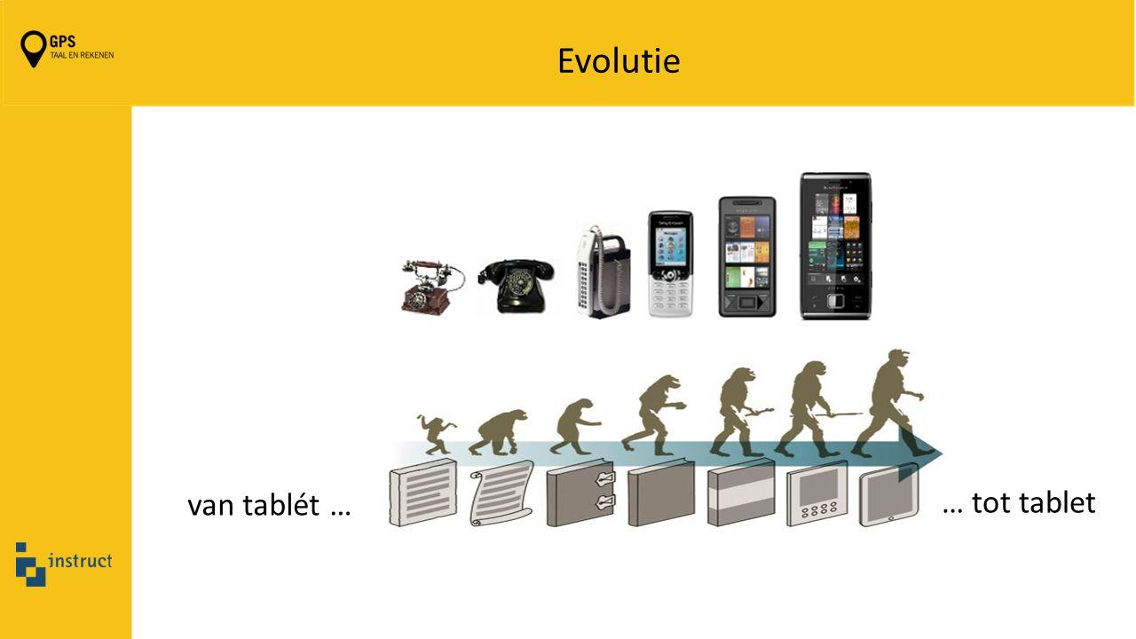 Evolutie van tablét … … tot tablet