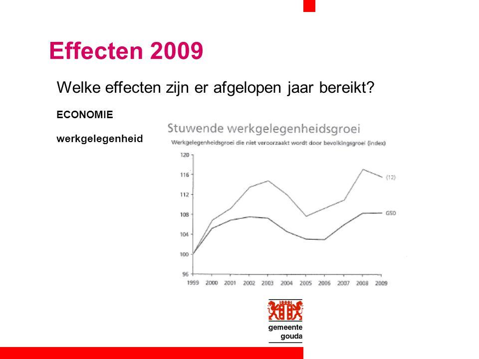 Welke effecten zijn er afgelopen jaar bereikt? Effecten 2009