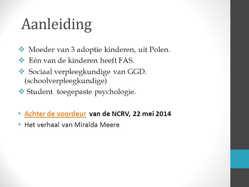 Kennis behoeften 3 vragen over de behoefte van kind mbt info over FAS(D).