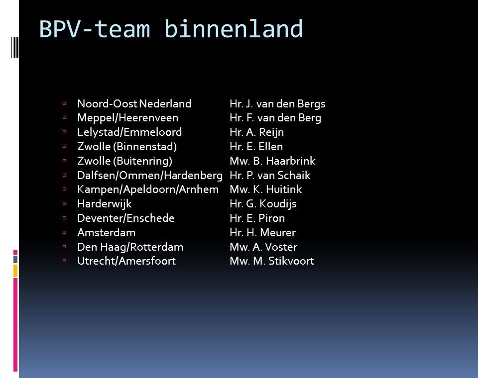 BPV-team buitenland  BelgiëHr.B. Zoethout  DuitslandHr.