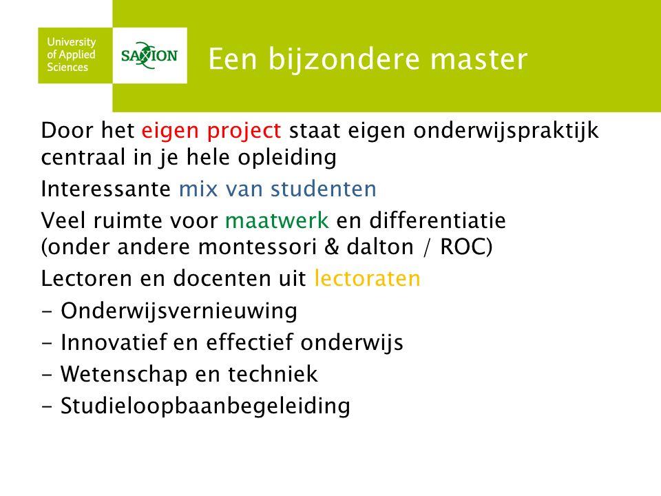 Blok 1 Project Het project van onderwijsverbetering in eigen school staat centraal.