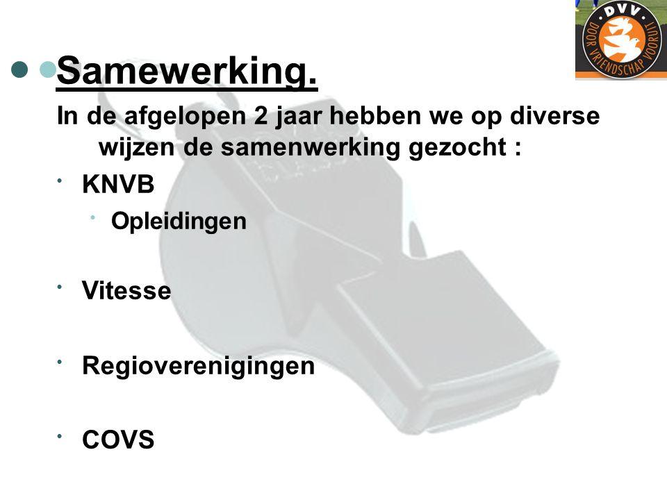 Samewerking. In de afgelopen 2 jaar hebben we op diverse wijzen de samenwerking gezocht : KNVB Opleidingen Vitesse Regioverenigingen COVS