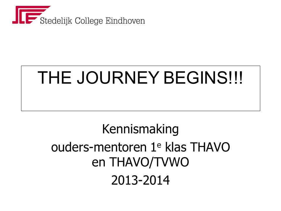 Kennismaking ouders-mentoren 1 e klas THAVO en THAVO/TVWO 2013-2014