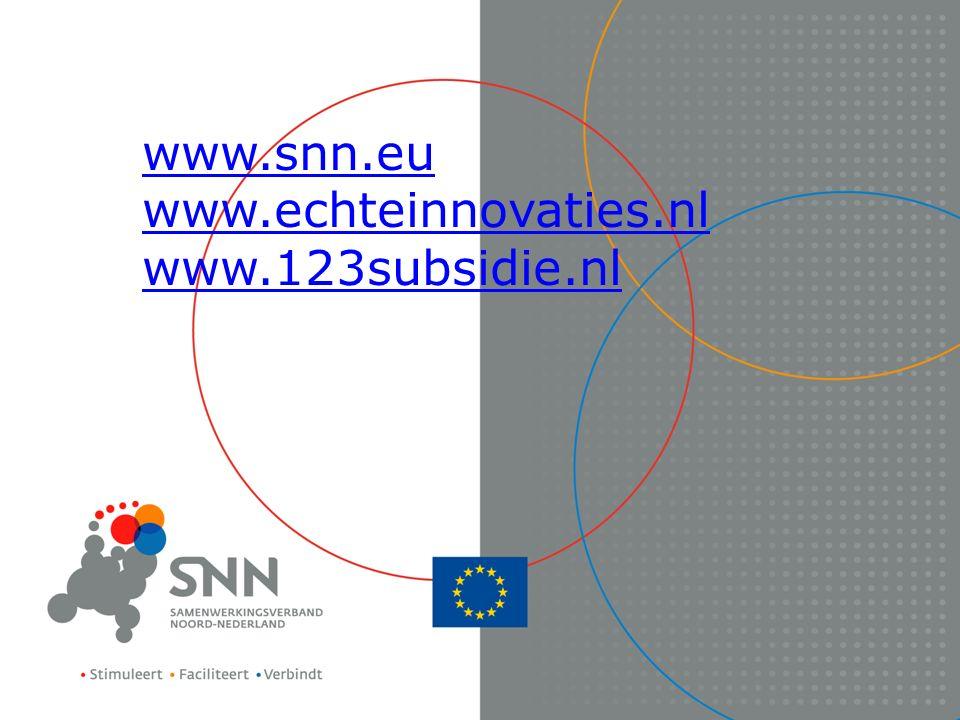 www.snn.eu www.echteinnovaties.nl www.123subsidie.nl