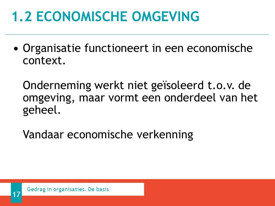 Organisatie functioneert in een economische context.