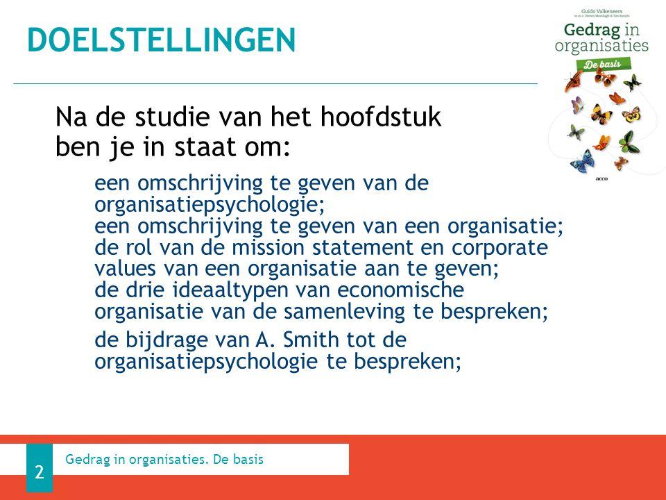 Klantgerichte organisatie 1.4.5 HEDENDAAGSE ORGANISATIES 43 Gedrag in organisaties. De basis
