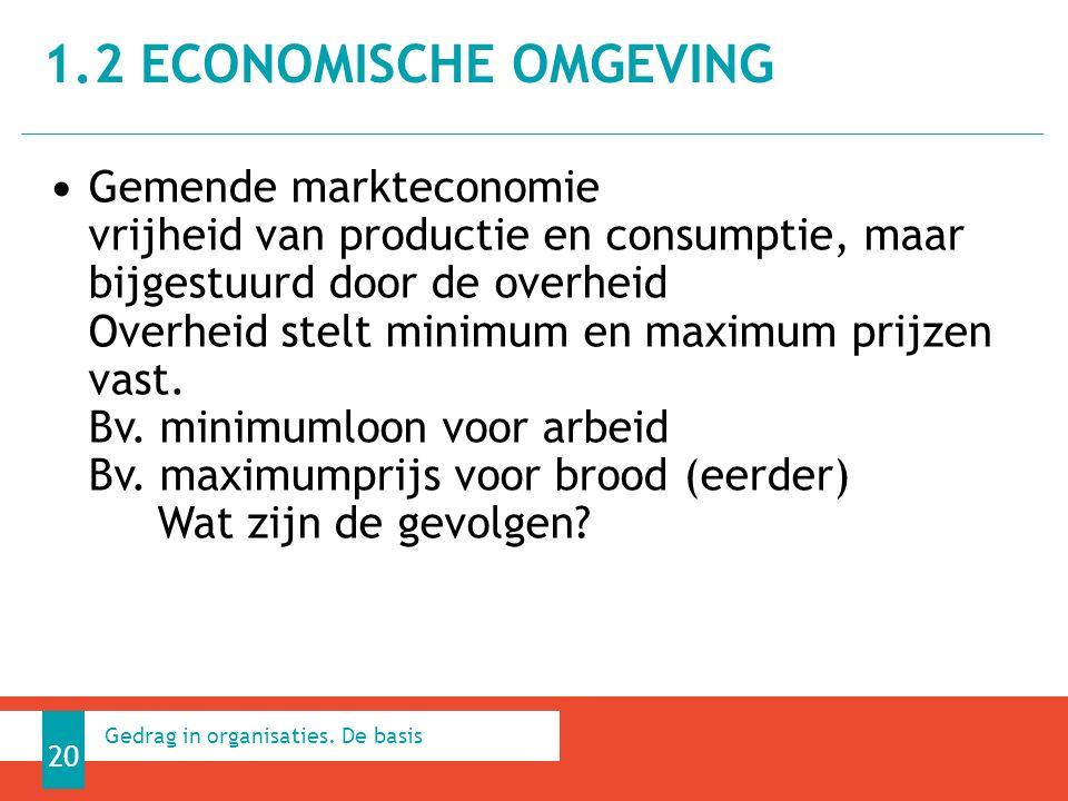 Gemende markteconomie vrijheid van productie en consumptie, maar bijgestuurd door de overheid Overheid stelt minimum en maximum prijzen vast.