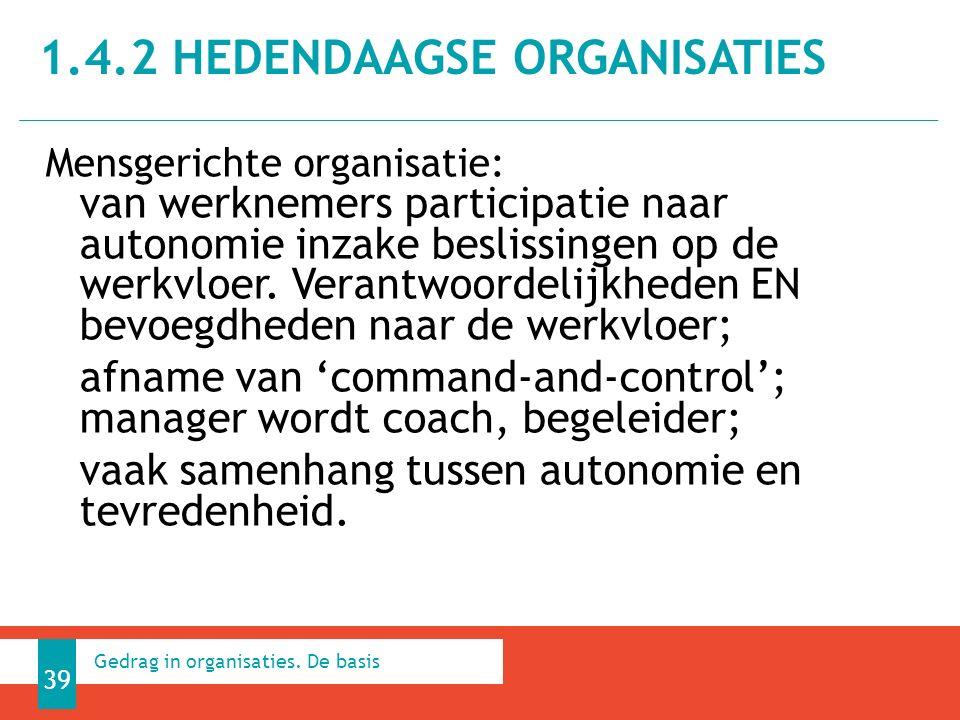 Mensgerichte organisatie: van werknemers participatie naar autonomie inzake beslissingen op de werkvloer.