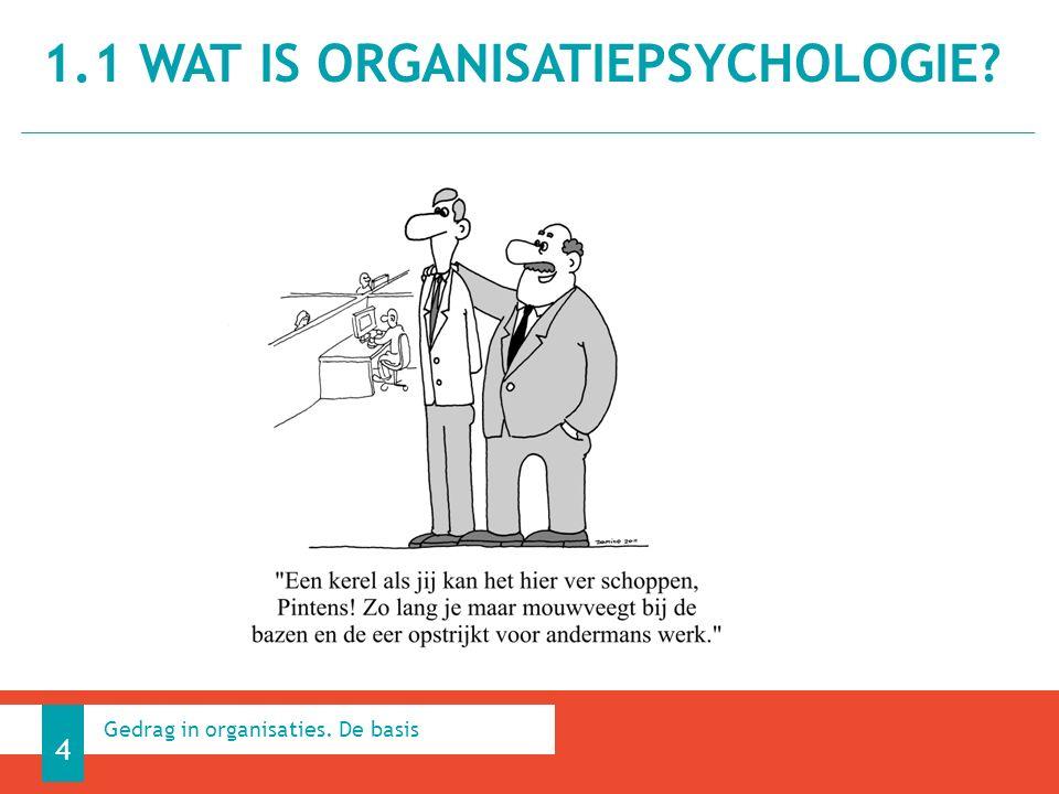 1.1 WAT IS ORGANISATIEPSYCHOLOGIE 4 Gedrag in organisaties. De basis