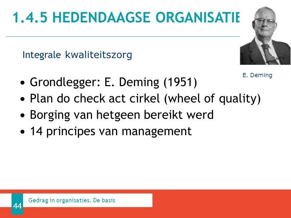 1.4.5 HEDENDAAGSE ORGANISATIES 44 Gedrag in organisaties.