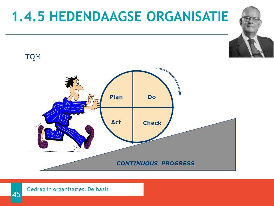 1.4.5 HEDENDAAGSE ORGANISATIES 45 Gedrag in organisaties.