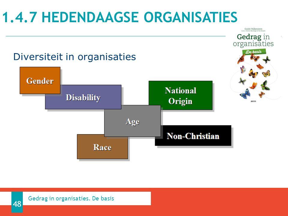 1.4.7 HEDENDAAGSE ORGANISATIES 48 Gedrag in organisaties. De basis Diversiteit in organisaties