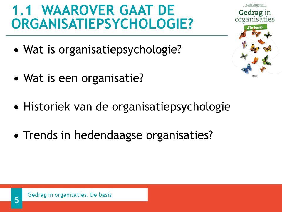 Doelstellingen van de organisatiepsychologie - verklaring van de vaststellingen bv.
