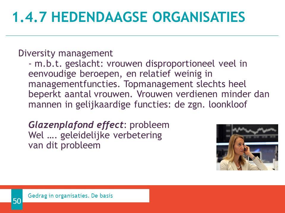 1.4.7 HEDENDAAGSE ORGANISATIES 50 Gedrag in organisaties.