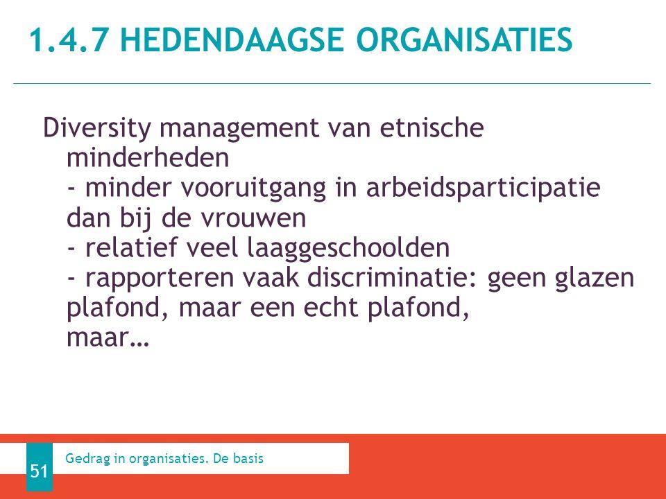 1.4.7 HEDENDAAGSE ORGANISATIES 51 Gedrag in organisaties.