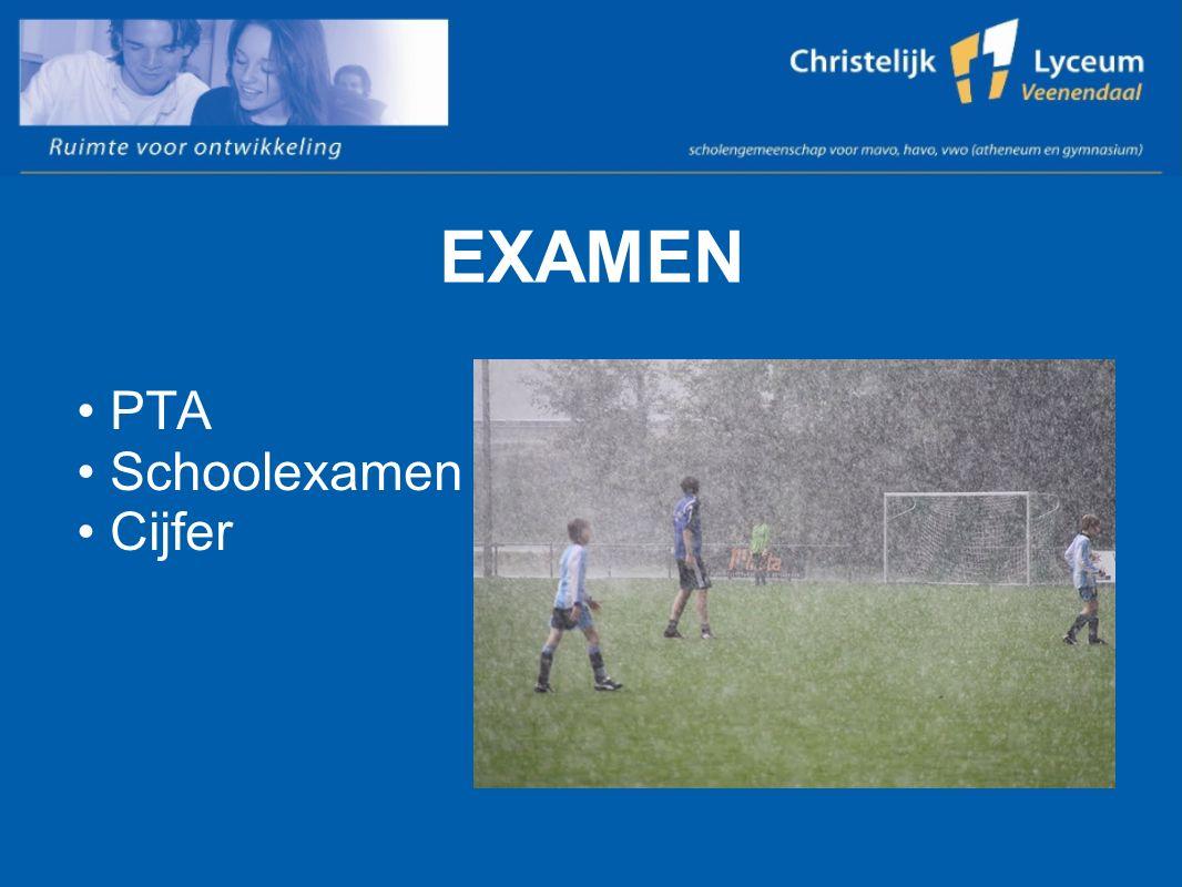 EXAMEN PTA Schoolexamen Cijfer