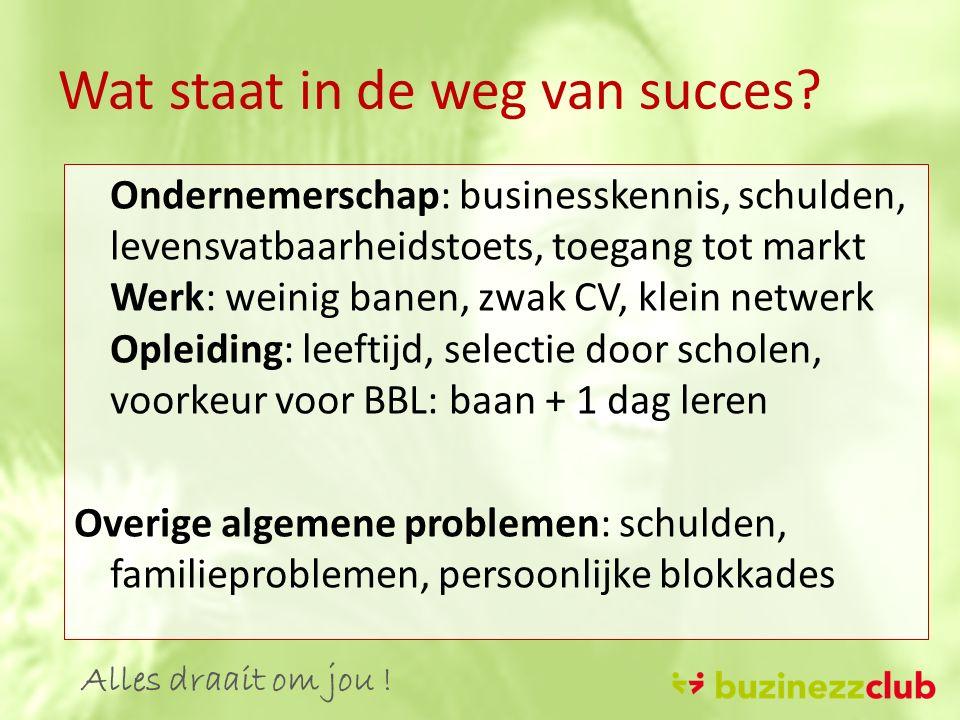 Wat staat in de weg van succes.