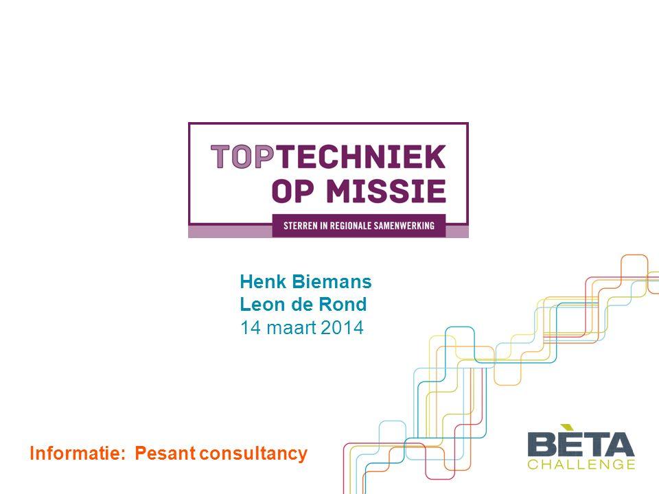 Henk Biemans Leon de Rond 14 maart 2014 Informatie: Pesant consultancy
