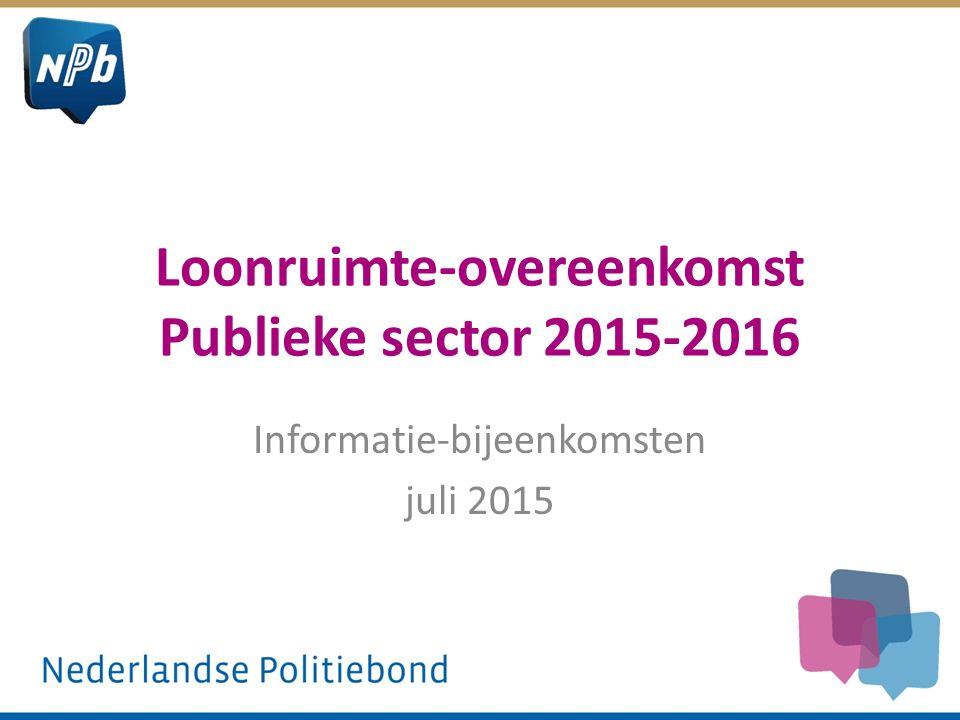 Loonruimte-overeenkomst Publieke sector 2015-2016 Informatie-bijeenkomsten juli 2015