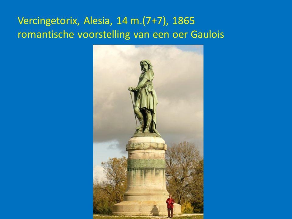Vercingetorix, Alesia, 14 m.(7+7), 1865 romantische voorstelling van een oer Gaulois