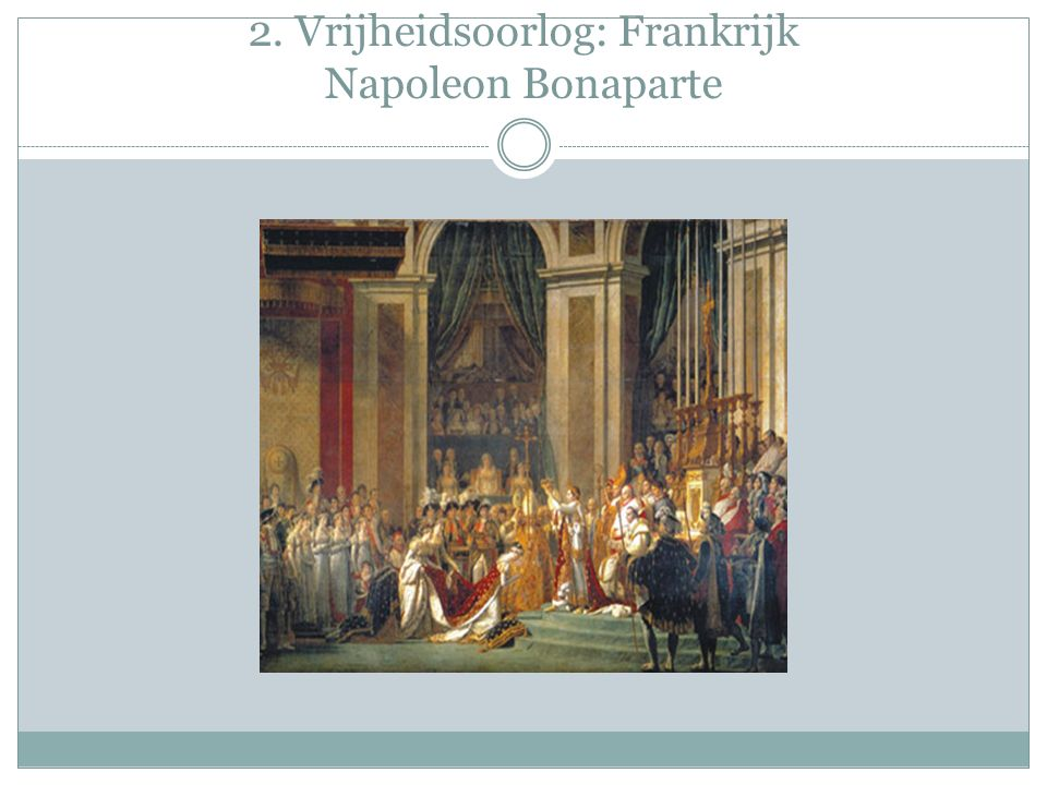 2. Vrijheidsoorlog: Frankrijk Napoleon Bonaparte