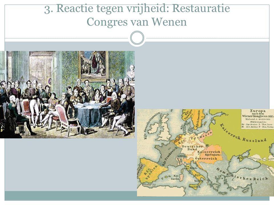 3. Reactie tegen vrijheid: Restauratie Congres van Wenen