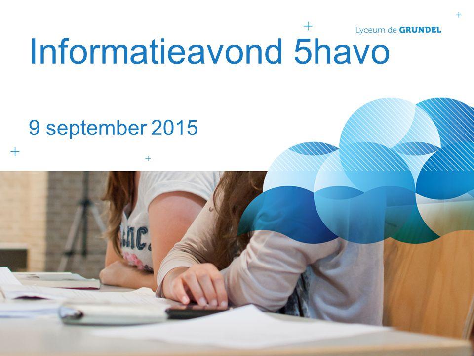 Informatieavond 5havo 9 september 2015