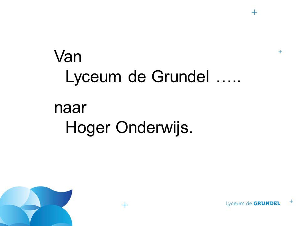 Van Lyceum de Grundel ….. naar Hoger Onderwijs.