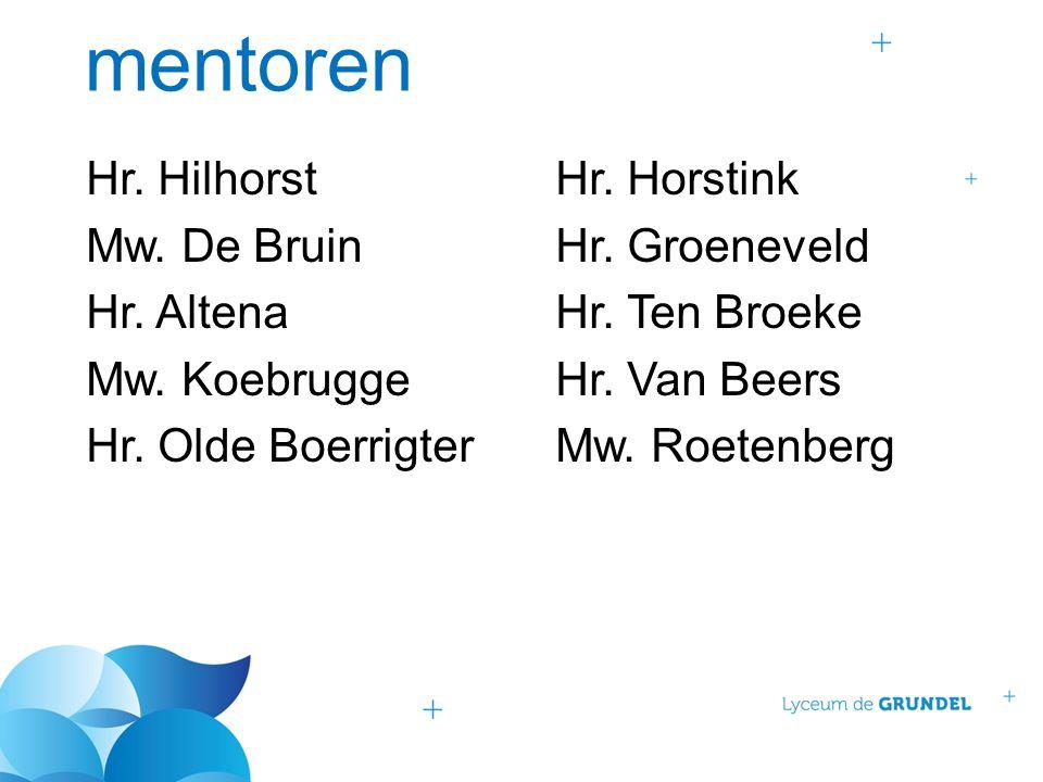 mentoren Hr. HilhorstHr. Horstink Mw. De BruinHr.