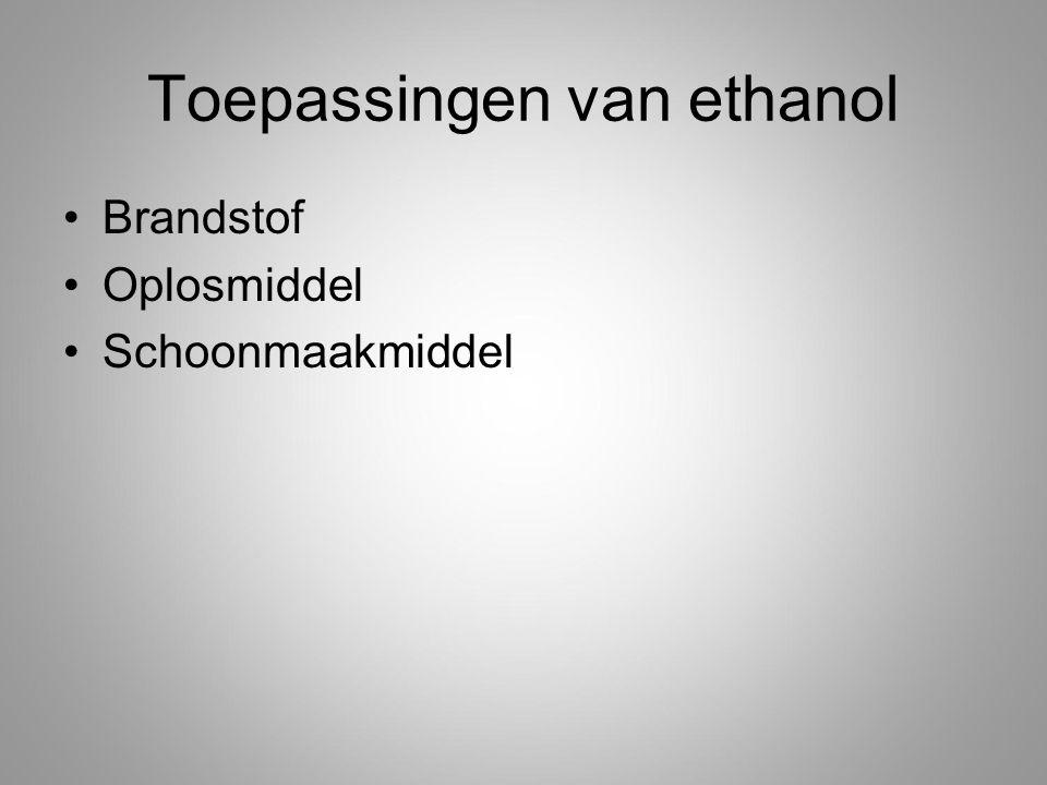 Toepassingen van ethanol Brandstof Oplosmiddel Schoonmaakmiddel