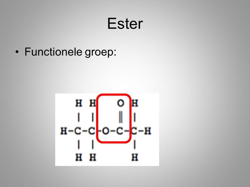 Ester Functionele groep:
