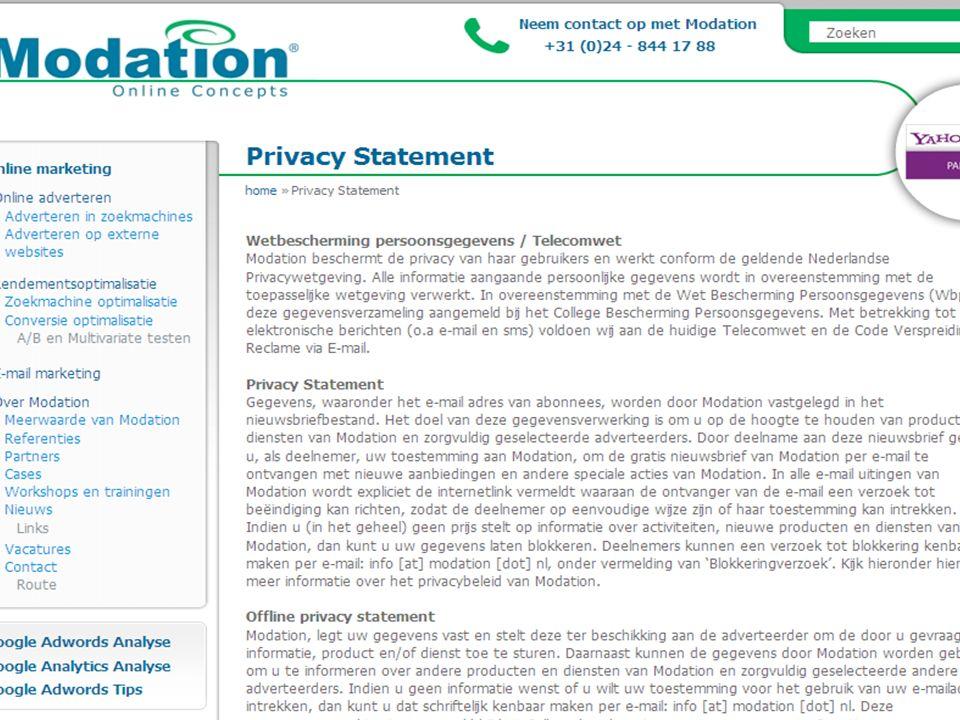 7 Eigen vergelijkbare producten –Ratio: privacy –Strekking –Eigen: concernverband –Wehkamp: mag dan alles.