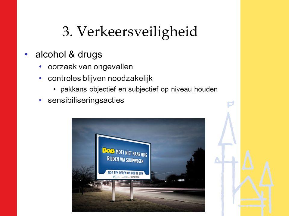 3. Verkeersveiligheid alcohol & drugs oorzaak van ongevallen controles blijven noodzakelijk pakkans objectief en subjectief op niveau houden sensibili