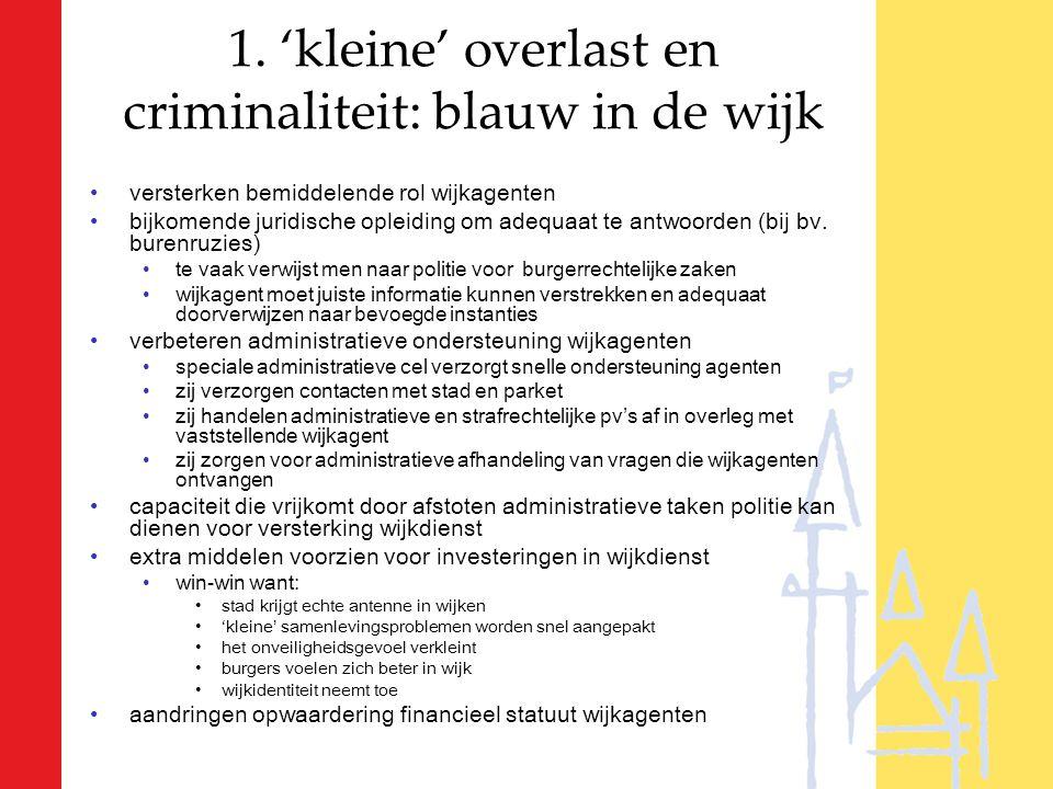 versterken bemiddelende rol wijkagenten bijkomende juridische opleiding om adequaat te antwoorden (bij bv.